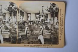 Photographie XIXème Vue Stéréoscopique Parlors Of The United States Hotel, Saratoga Springs,  New York USA - Photos Stéréoscopiques