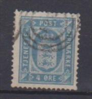 Suède //   Timbre De Service  // N 6 B  //  4 Ore  Bleu // Oblitéré //  Côte 10 € - Service