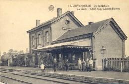 ZUYENKERKE. Zuienkerke. De Spoerhalle. Statie. La Gare Du Train. Bon état (voir Scan) - Zuienkerke
