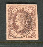 Superbe N° 58 Cachet à Date D'ALBERIQUE - 1850-68 Kingdom: Isabella II