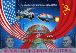 GUINEE EQUATORIALE  - 1975 COLABORATION ESPACE USA/URSS  NEUF MNH**   BLOC NEUF MNH** - Africa