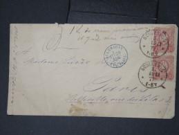 """FRANCE-Enveloppe D Allemagne Pour Paris  Obl En Bleu """" Allemagne Erq.Paris 1877""""      à Voir Lot P5702 - Poststempel (Briefe)"""