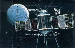 KAMPUCHEA - 1987 JOURNEE DE LA COSMONAUTIQUE N° Y&T 59    BLOC OBLITERE - Asia