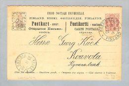 Motiv Landkarten 1898-02-23 Bild Ganzs. Finnland 10 Kop. - Finlande