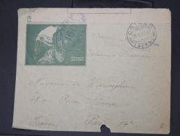 FRANCE-Enveloppe De Gstaad ( Avec Controle) D Un Prisonnier Francais En Suisse Pour Paris En 1917     à Voir Lot P5706 - Marcophilie (Lettres)