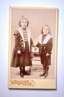 Photographie XIXème CDV Portrait De 2 Enfants En Costume Par H. THILLIER Angers - Photos