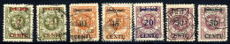 MEMEL (Lithuanian Occ) 1923 (16-20 Apr) Set Used. Michel 167-73 - Klaipeda