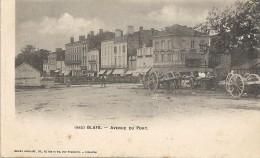 BLAYE - 33 - CPA DOS SIMPLE TRES RARE De L'Avenue Du Port - GG - - Blaye