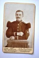 Photographie XIXème CDV Portrait D´un Militaire Du 25ème Régiment De Chasseur ? - Guerre, Militaire