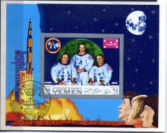 YEMEN (kingdom)  1969 Michel** N° Bloc 160 A Moon Landing Apollo 11 Espace  BLOC OBLITERE - Space