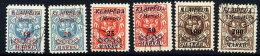 MEMEL (Lithuanian Occ) 1923 (mid Feb) Surcharge Set Used.  Michel 135-40 - Klaipeda