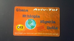 Ethiopia-aviv Tel-(012)-(this Card Talk-ethiopia,nigeria,india,ghana)-used+1card Prepiad Free - Etiopía