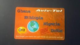 Ethiopia-aviv Tel-(012)-(this Card Talk-ethiopia,nigeria,india,ghana)-used+1card Prepiad Free
