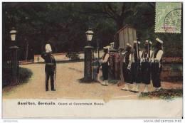 ANTILLES BERMUDES MILITAIRE HAMILTON BERMUDA GUARD AT GOVERNMENT HOUSE.CPA BON ETAT - Bermudes