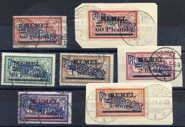 MEMEL 1921 Airmail Overprints On France  Used.  Michel 40-46 - Klaipeda