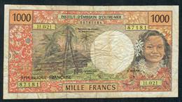 FRENCH PACIFIC TERRITORIES P2e 1000 FRANCS 2000 Signature 6 POUILLEUTE-REDOUIN-AUDREN   AVF - Frans Pacific Gebieden (1992-...)