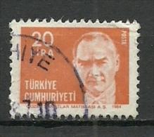 Turkey; 1984 Regular Issue Stamp With The Subject Of Ataturk - 1921-... República