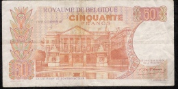 BELGIUM P139  50  FRANCS  1966   VF - [ 6] Treasury