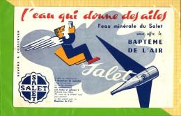 BUVARD . BLOTTER :  L�eau qui donne des ailes SALET  Baptene de l�Air