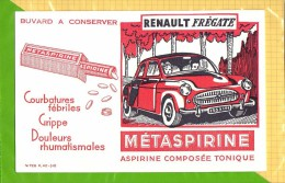 BUVARD . BLOTTER :  METASPIRINE Renault Fregate - Automobile
