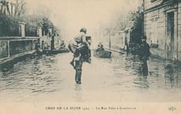 Crue De La Seine. La Rue Falet à Courbevoie - Überschwemmung 1910