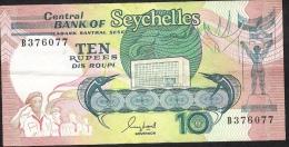 SEYCHELLES  P32  10   RUPEES   1989    VF-XF - Seychelles