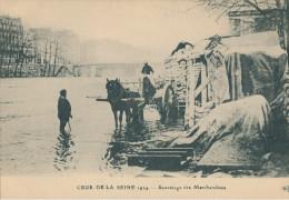 Crue De La Seine 1924. Sauvetage Des Marchandises - Überschwemmung 1910