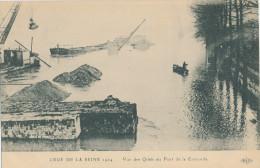Crue De La Seine 1924. Vue Des Quais Au Pont De La Concorde - Überschwemmung 1910