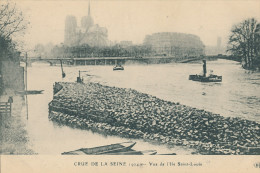 Crue De La Seine 1924. Vue De L'Ile St Louis - Überschwemmung 1910