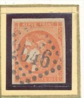 N°48 BORDEAUX ORANGE TRÈS VIF SIGNE DEUX FOIS. - 1870 Bordeaux Printing