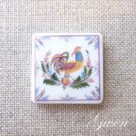 Feve Clamecy Carreau D´Art Mosaique Florale Signée Au Dos - Charms