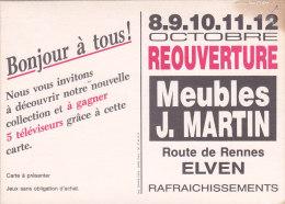 CPM Publicitaire ELVEN - Meubles Martin, Route De Rennes - Elven