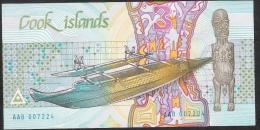COOK ISLANDS P3  3 DOLLARS   1987  PREFIX AAB      UNC. - Islas Cook