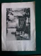 Vecchie Stampe - A Venezia.- Cm. 17x24. - Vecchi Documenti
