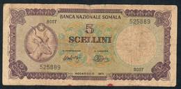 SOMALIA  P13   5  SCELLINI   1971   FINE   VERY RARE - Somalia