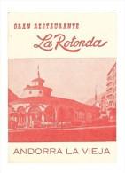 ANDORRA LA VIEJA (Andorre) Carte De Visite Publicitaire Restaurant La Rotonda - Visiting Cards