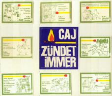 Alte 8+1 Zündholzetikettenserie: Christliche Arbeiter Jugend, Münster Ausgabe A) Von 1966 - Luciferdozen - Etiketten
