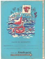 Protège Cahier Cahier De Géographie Offert Par La Vache Qui Rit, La Célèbre Création Des Fromageries BEL - Book Covers