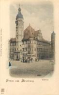 GERMANY - GRUSS AUS ALTENBURG - MANY PEOPLE - UNDIVIDED BACK LITHO - VINTAGE ORIGINAL POSTCARD - Altenburg