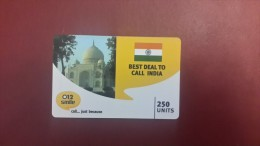 India-best Deal To Call India-(250units)-012-ussd+1card Prepiad Free - India