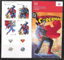 CANADA 2013, 2683aiii, SUPERMAN 75th,  MNH  #4,  Pane Of 4, - Pages De Carnets