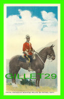 PROFESSIONS - POLICE MONTÉE - ROYAL CANADIAN MOUNTED POLICE - ON PATROL DUTY - TRAVEL IN 1963 - C.L.C. - - Police - Gendarmerie