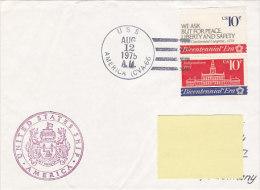 USS America 1975 (bateau Ship, US Navy) - Marcofilie