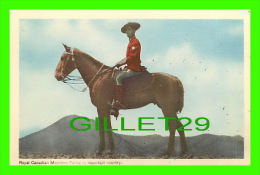 PROFESSIONS - POLICE MONTÉE - ROYAL CANADIAN MOUNTED POLICE - IN MOUNTAIN COUNTRY  TRAVEL IN 1963 - PECO - - Police - Gendarmerie