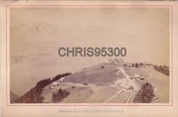 PHOTO 19 EME SIECLE COLLEE SUR CARTON - CAUX - MONTREUX - VAUD - SUISSE - TRAIN - Anciennes (Av. 1900)