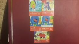 India-vodafone-(set 5 Cards)-used+3prepiad Card Free - India