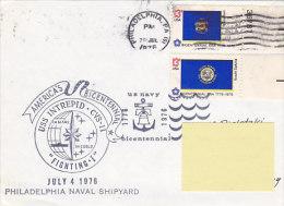 USS Intrepid - Philadephia Naval Shipyard 1976 (bateau Ship, US Navy) - Marcofilie