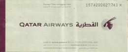 QATAR AIRWAYS PASSENGER TICKET (KARACHI - DUBAI - KARACHI)