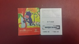 India-vodafone-mrp-(rs.20)-kutti Recharge-used Card+1card Prepiad Free - India