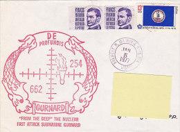 From The Deep - Nuclear Submarine Gurnard 1977   (sous-marin, Bateau Ship, US Navy) - Marcofilie